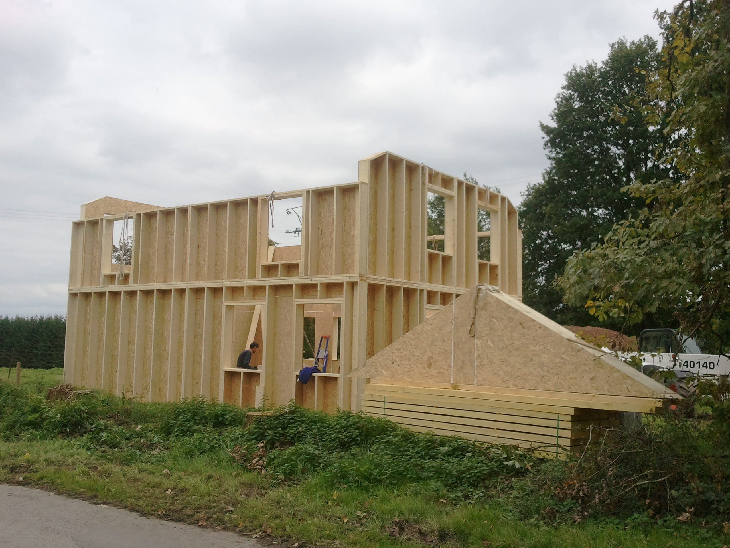 La structure du b timent en maison passive zero energy house for Structure de bois